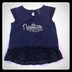 🎀 Nautical Navy Top Toddler Girls 4T 🎀